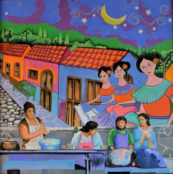 Cooks in Ataco von Hugo Martinez Acuna - GaGaGallery