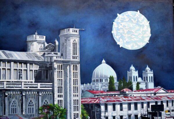 Peace Moon von Hugo Martinez Acuna - GaGaGallery