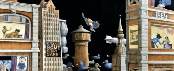 Stay Home Stay Tame von Daniel Zerbst - GaGaGallery