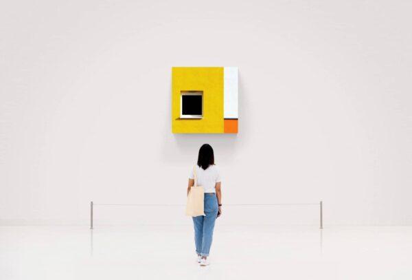 yellow wall von Jürgen Heck - GaGaGallery